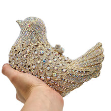 Load image into Gallery viewer, Crystal BIrd Clutch Bag