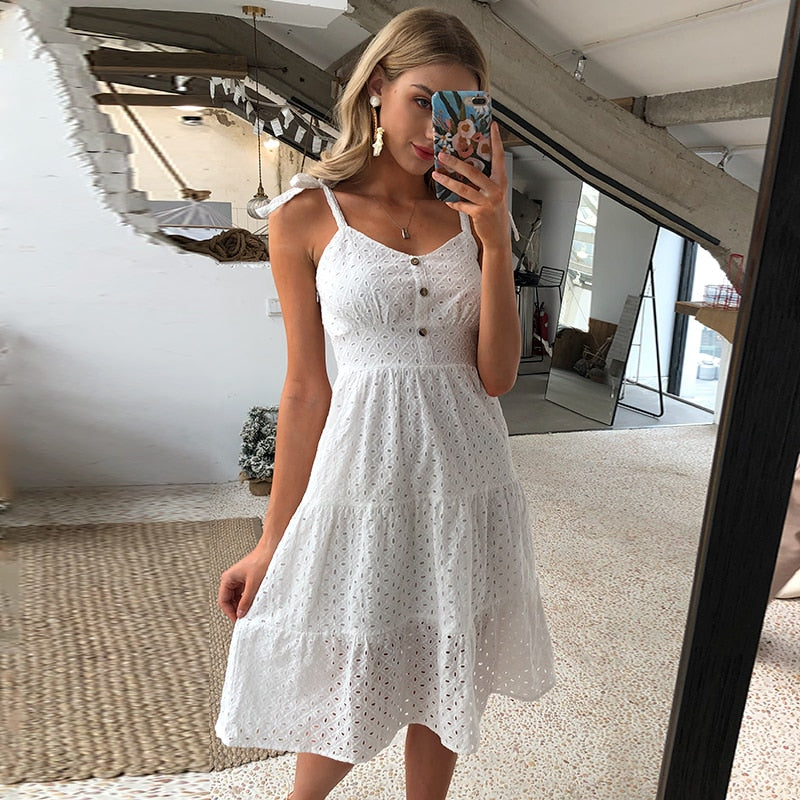 Embroidered Summer Beach Dress