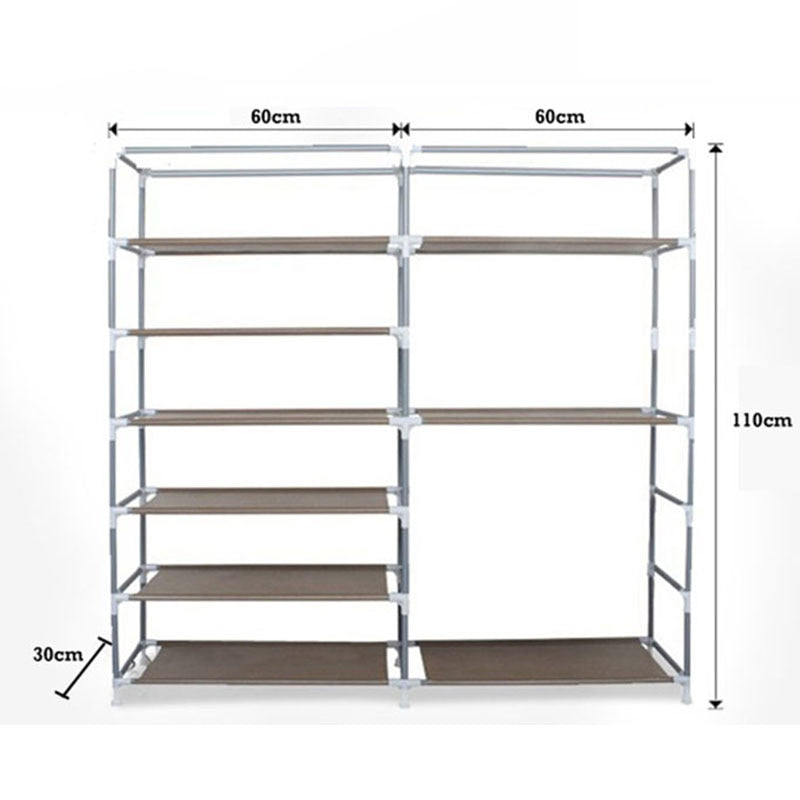 Double Row Large Capacity Shoe Cabinet