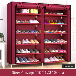 Open image in slideshow, Double Row Large Capacity Shoe Cabinet