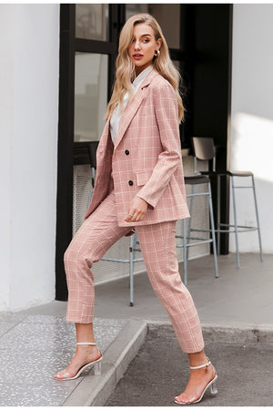Double Breasted Blazer & Pants Set