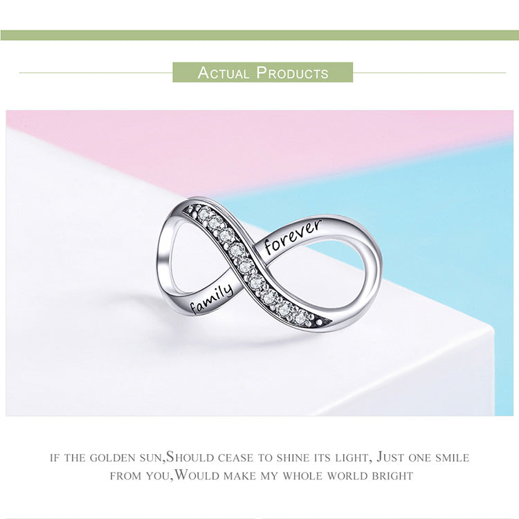 Sterling Silver Infinity Crystal Charm