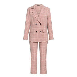 Open image in slideshow, Double Breasted Blazer & Pants Set