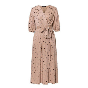 Open image in slideshow, Polka Dot Wrap Dress