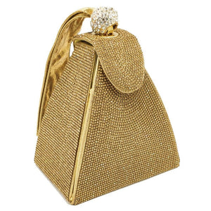 Open image in slideshow, Pyramid Crystal Clutch