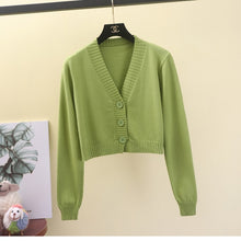 Load image into Gallery viewer, Cropped Cardigan Sweater