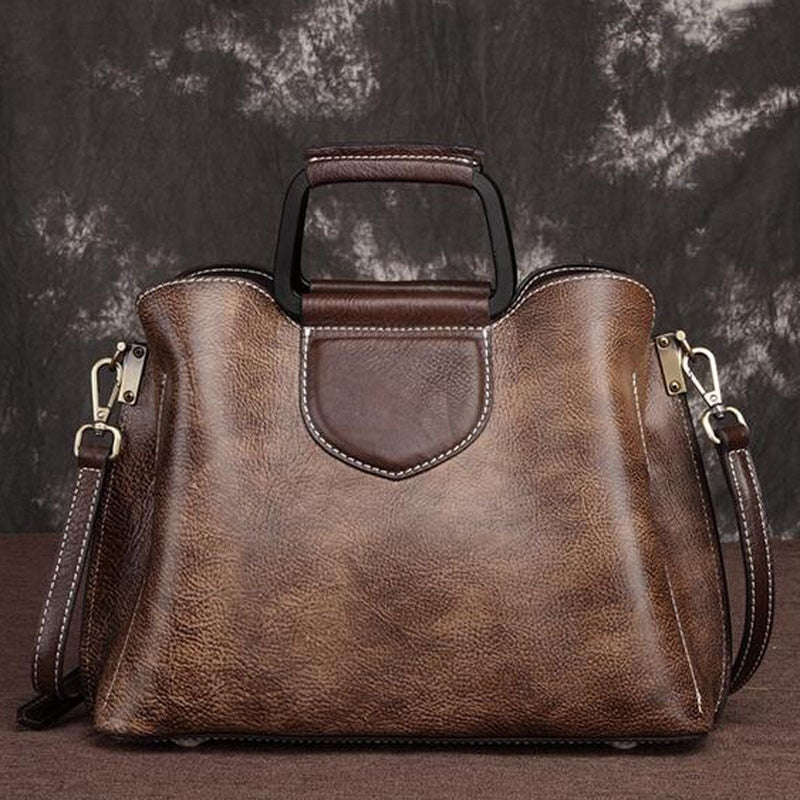 Genuine Leather Vintage Tote Bag
