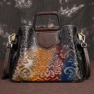 Open image in slideshow, Genuine Leather Vintage Tote Bag
