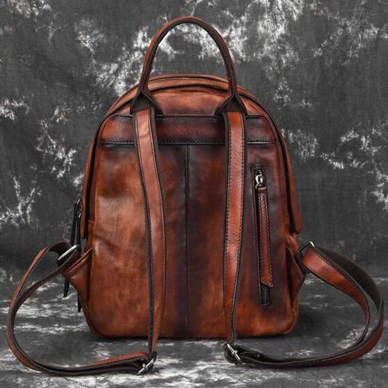 Genuine Leather Retro Backpack