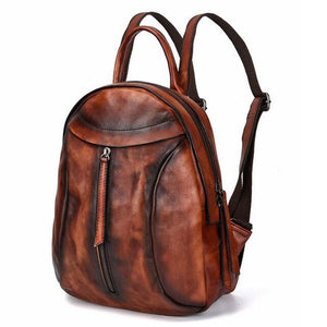Open image in slideshow, Genuine Leather Retro Backpack
