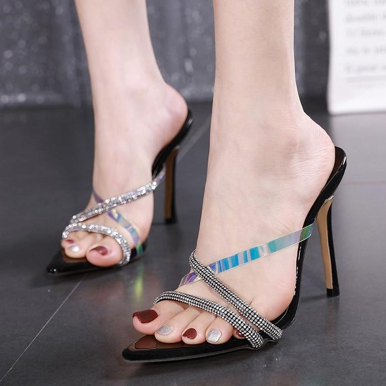 Pointed Toe Bling Heels