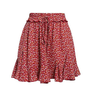 Open image in slideshow, Floral Ruffle Skirt