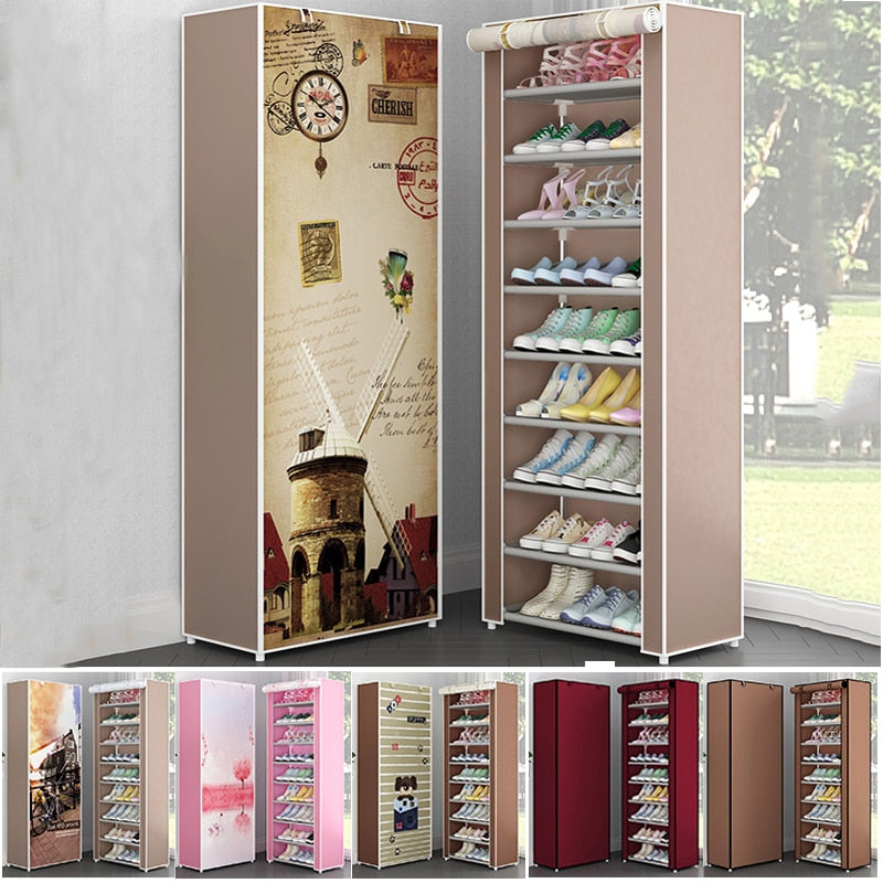 Multi Layer Fabric Shoe Organizer