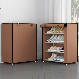 Open image in slideshow, Multi Layer Fabric Shoe Organizer