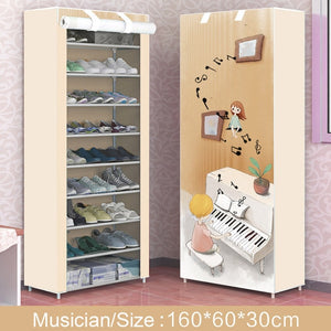 Open image in slideshow, 9 Layer Fabric Shoe Rack