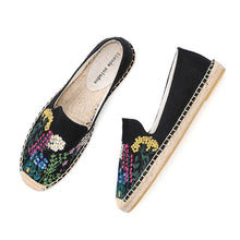 Load image into Gallery viewer, Floral Hemp Espadrilles