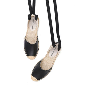 Open image in slideshow, T-strap Open Espadrille Sandals