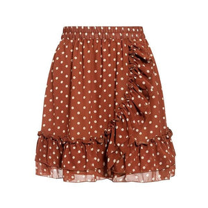 Open image in slideshow, Polka Dot Ruffled Skirt