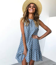 Load image into Gallery viewer, Polka Dot Sleeveless Mini Dress
