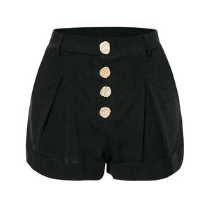 Open image in slideshow, Black Cotton Shorts