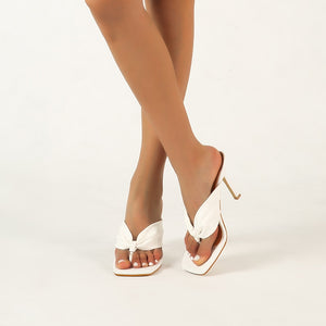 Square Toe Slipper Sandals