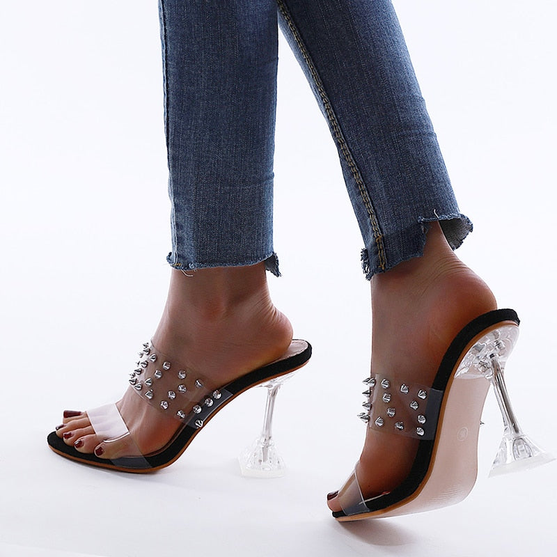 Transparent Crystal Sandals