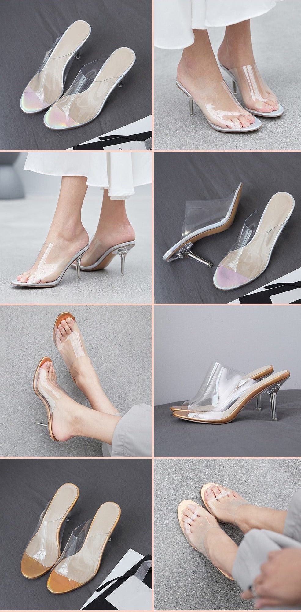 Transparent Jelly sandals