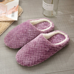 Open image in slideshow, Warm Plush Anti-Slip Slippers
