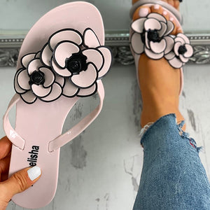 Open image in slideshow, Flower Beach Flip Flops