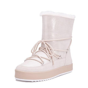 Open image in slideshow, Genuine Shearling Snow Boots