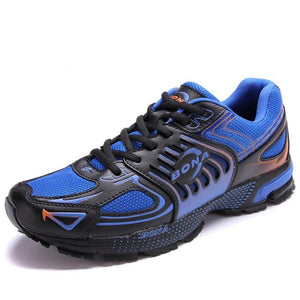 Open image in slideshow, Leather & Mesh Running Jogging Sneakers