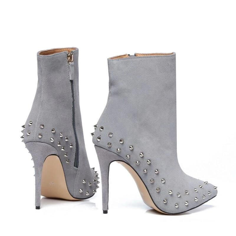 Genuine Leather Suede Ankle Boots