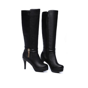 Open image in slideshow, Tassel Knee High Platform Boots