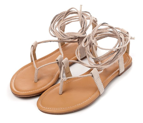 Cross-Strap Nubuck Thong Sandals