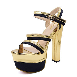 Open image in slideshow, Ankle Strap Platform Sandals