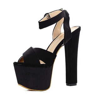 Open image in slideshow, Open Toe Platform Sandals