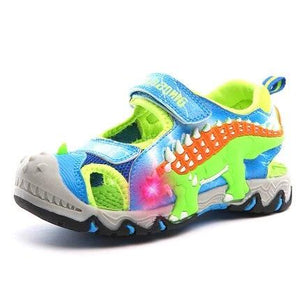 Open image in slideshow, LED 3D Dinosaur Sneaker Sandals