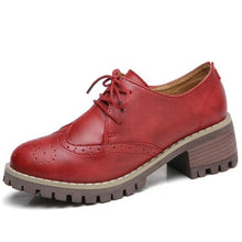 Load image into Gallery viewer, Women's Genuine Leather Oxford Shoes
