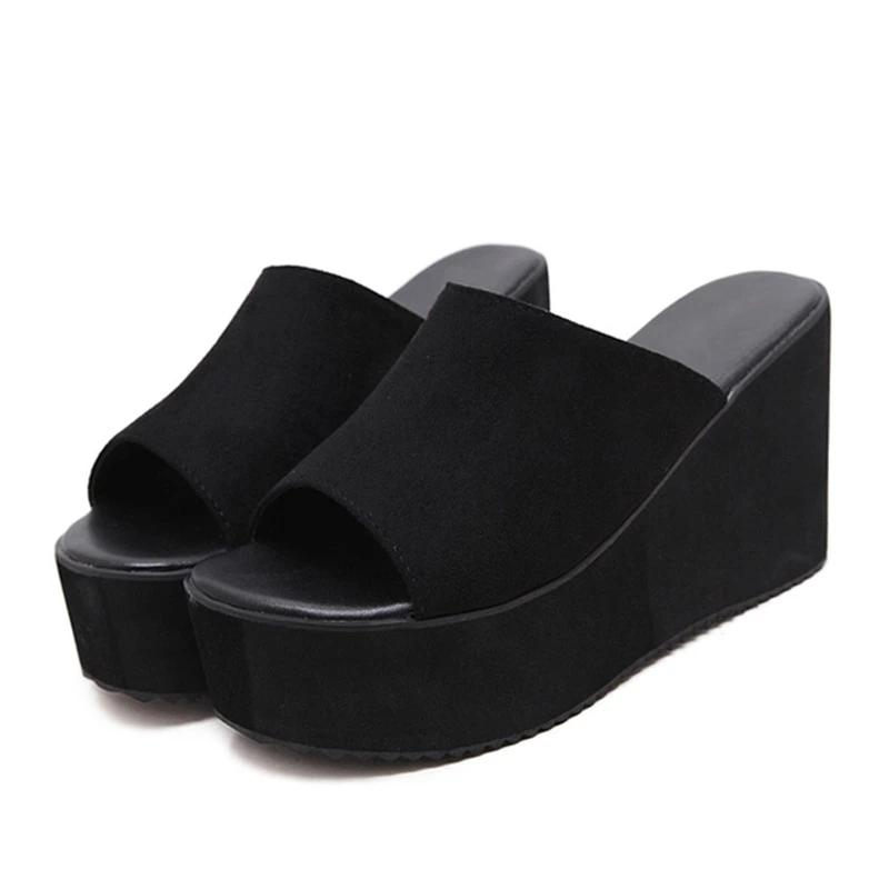 Slip On Wedge Platform Sandals