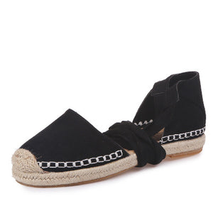 Open image in slideshow, Ankle Strap Espadrille Sandals