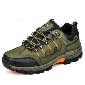 Open image in slideshow, Leather Hiking Jogging Sneakers