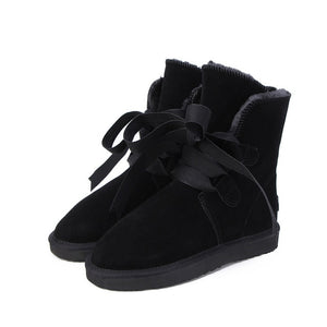 Open image in slideshow, Genuine Leather Warm Snow Boots
