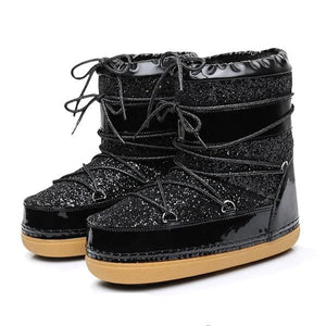 Open image in slideshow, Fur Bling Winter Boots