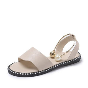 Open image in slideshow, Slip-On Pearl Sandals