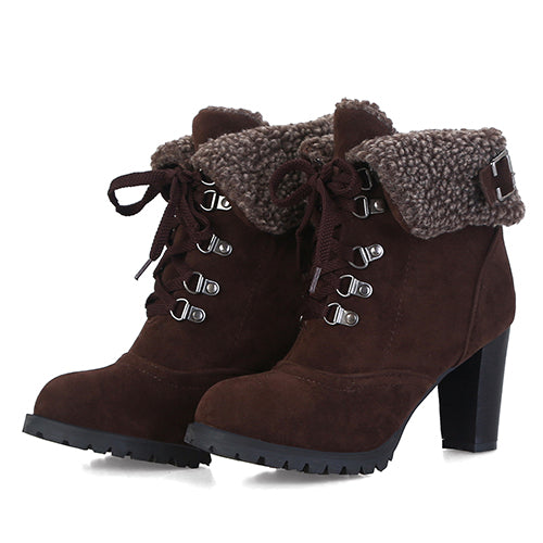 Winter Fur Suede Ankle Boots