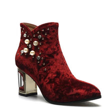 Load image into Gallery viewer, Crystal Velvet Boots