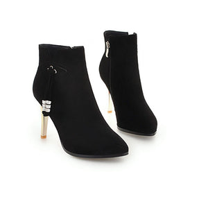 Open image in slideshow, Pointed Toe Tassel Booties