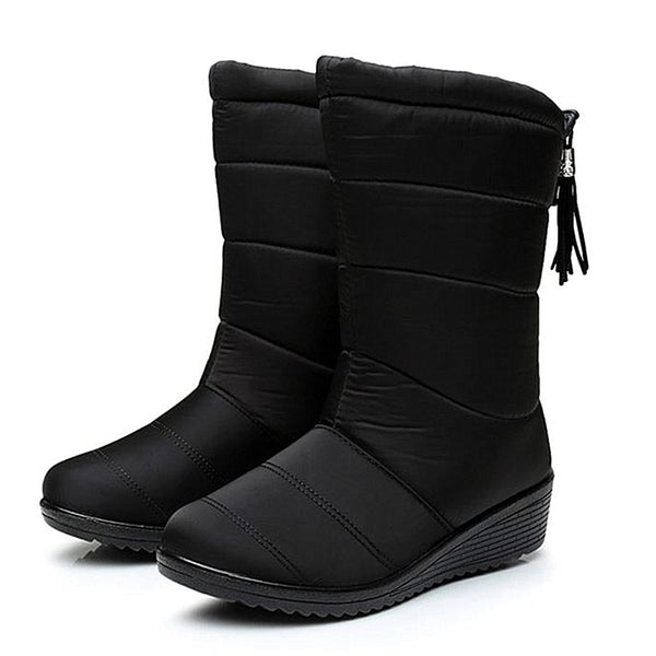 Down Waterproof Winter Ankle Boots