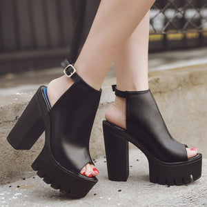 Slingback High Heel Platform Sandals