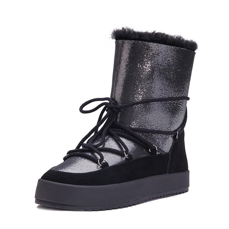 Genuine Shearling Snow Boots